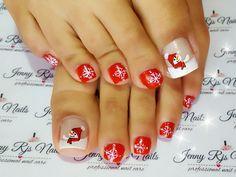 Acrylic Nail Designs, Acrylic Nails, Christmas Toes, French Pedicure, Cute Nail Art, Pedicures, Toe Nails, Nail Care, Makeup