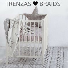 Braided and beautiful.The Lorena Canals Trenzas collection is coming to the US end of February. Machine-washable with only the most natural materials. 6 colors for the muted nursery palette. lorenacanals.com