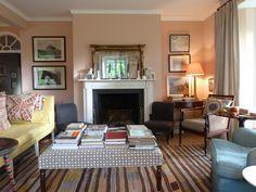 Farrow & Ball's Setting Plaster Sitting Room #decorating #homedecor #paintcolors