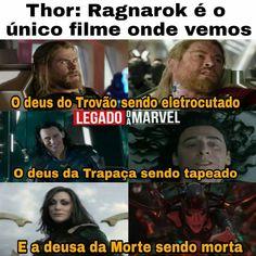 Kkkkkk Marvel Jokes, Avengers Memes, Marvel Avengers, Thor Meme, Memes Status, Dc Memes, Funny Memes, Mundo Marvel, Fantasy Movies