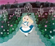Walt Disney - Alice in Wonderland - Mary Blair - Concept Art Mary Blair, Art Disney, Disney Concept Art, Disney Magic, Disney Artists, Disney Stuff, Disneyland, Eleonore Bridge, Alice In Wonderland 1951