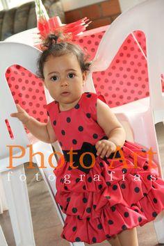 Vestido Joaninha para festa infantil