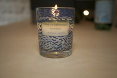 Surf in Paris perfumed Candles - Available at Cuisse de Grenouille Flagship Store - Waves pattern by Joran Briand.