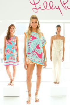 Three looks from Lilly Pulitzer's resort 2016 presentation. Photo: Lilly Pulitzer