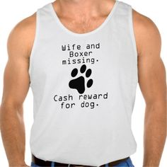 Wife And Boxer Missing Tank Tank Tops
