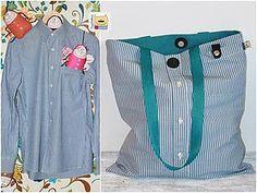 Шьем сумку-авоську из любимой рубашки | Ярмарка Мастеров - ручная работа, handmade