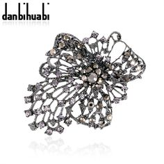 New Fashion hollow out crystal pins broches bijouterie bride wedding jewelry pin brooches for women party gifts