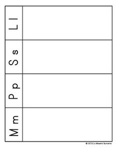 FREE! Spanish beginning sound picture sort for letters M, P, S, and L.