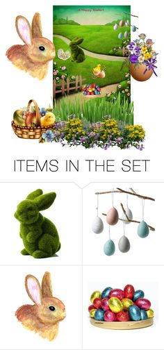 """EASTER"" by svetlozeme on Polyvore featuring art"