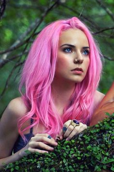 Pink hair #dyed, learn about extreme coloring! http://emersonsalon.com/2015/03/wow-extreme-color-trends-2015.html