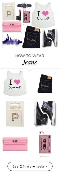 """Abercrombie and Fitch jeans"" by thestyleartisan on Polyvore featuring Hermès, Skinnydip, Keds, Abercrombie & Fitch, Burberry, women's clothing, women's fashion, women, female and woman"