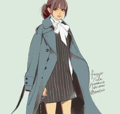 Matsou Hiromi Girls Anime, Manga Girl, Manga Illustration, Character Illustration, Fashion Art, Fashion Design, Cute Anime Couples, Anime Outfits, Character Design Inspiration