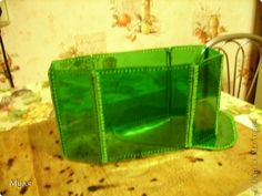 Master-class, Crochet,: Container for small items and cosmetic bag. Bottle Cutting, Recycle Plastic Bottles, Master Class, Cosmetic Bag, Purses And Bags, Zip Around Wallet, Container, Crochet, How To Make