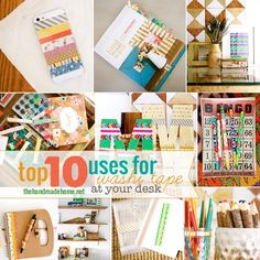 top ten uses for washi tape {at your desk}the handmade home