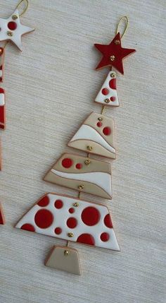 Great Pictures polymer clay ornaments Suggestions Keramik als Gewerbe: WEIHNACHTEN – Keramik Fimo – … Christmas Makes, Christmas Art, Christmas Projects, Christmas Ornaments, Christmas Pictures, Ceramic Christmas Decorations, Xmas Decorations, Polymer Clay Christmas, Polymer Clay Crafts
