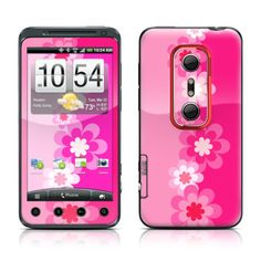 HTC Evo 3D Skin - Retro Pink Flowers by DecalGirl Collective