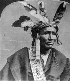 Ojibwa man - circa 1880
