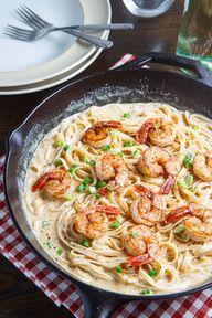 Cajun Shrimp Fettucc - http://mifsudbella.oo3.co/2014/02/cajun-shrimp-fettucc/