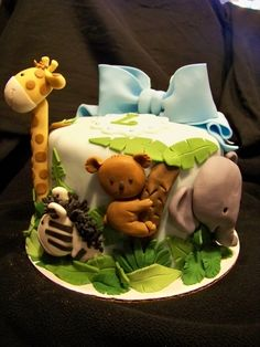 Jungle Animal Baby Shower Cake By sj27213 on CakeCentral.com