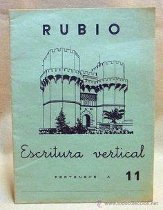CUADERNO ESCOLAR, LIBRO, RUBIO, ESCRITURA VERTICAL, 1962 Nº 11