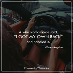 She has her own back anyone else is just a bonus. #strongwoman #empoweringwomennow