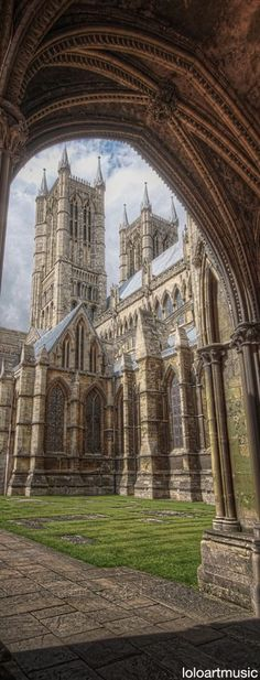 Lincoln Cathedral, Lincoln, England. John Ruskin famously said, 'I have always held and proposed against all comers to maintain that the Cathedral of Lincoln is out and out the most precious piece of architecture in the British Isles'
