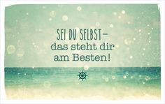 Sei du selbst – das steht dir am Besten! vossentowels postcardswithlove positivequote thinkpositive motivation inspire