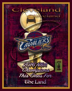 Cleveland Cavaliers NBA 2016 Championship Poster
