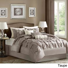 Madison Park Vivian Polyester Solid Tufted 7-piece Comforter Set | Overstock. Nice DIY idea.......