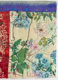 Chance Meeting (detail) by Louise Baldwin Textile Fiber Art, Textile Artists, Embroidery Art, Machine Embroidery, Art Du Fil, Creative Textiles, Contemporary Embroidery, Thread Art, Fabric Art