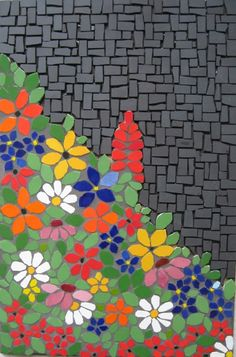 Mosaic Panel FLOWERY MOOD by andreamosaic on Etsy, $199.00