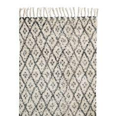Nordal Diamonds Vloerkleed Zwart/Wit - 75 x 150 cm - afbeelding 1