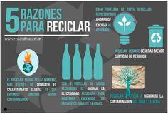 5 razones para reciclar thumb 5 razones para reciclar #infografía