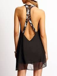 To find out about the Black Sleeveless Backless Chiffon Dress at SHEIN, part of our latest Dresses ready to shop online today! Trendy Dresses, Cute Dresses, Casual Dresses, Short Dresses, Formal Dresses, Chiffon Dress, Dress Skirt, Fashion Night, Latest Dress
