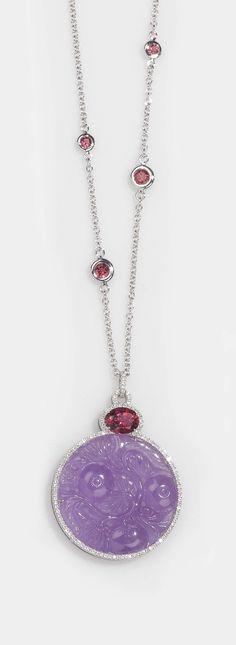 A jadeite, tourmaline and diamond pendant. By Brarda, Italy