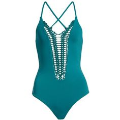 Women's Billabong 'Hippie Hooray' Crochet One-Piece Swimsuit ($80) ❤ liked on Polyvore featuring swimwear, one-piece swimsuits, forest, one piece bathing suits, one piece cutout bathing suit, crochet bathing suits and 1 piece swimsuit