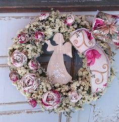 Andělům... Burlap Wreath, Christmas Wreaths, Holiday Decor, Home Decor, Nostalgia, Decoration Home, Room Decor, Advent Wreaths, Interior Decorating