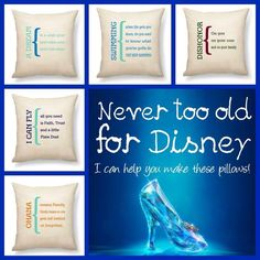 Personalize a pillow! #ThirtyOneGifts #StatementCanvasPillow #AboutUs #Disney