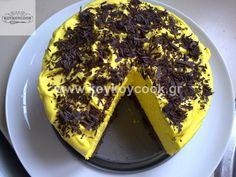 ΤΣΙΖΚΕΙΚ ΛΕΜΟΝΙΟΥ ΜΕ ΝΙΦΑΔΕΣ ΣΟΚΟΛΑΤΑΣ Lemon Cheese, Cheesecake, Pie, Desserts, Food, Torte, Tailgate Desserts, Cake, Deserts