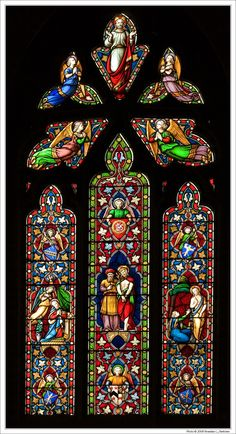 Annunciation and Noli Me Tangere Stained Glass; Gloucester Cathedral, England; photo by Branislav L. Slantchev