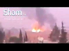 فيديو يظهر لحظة استهداف الطيران الاسرائيلي لمطار الديماس