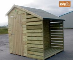 "APEX GARDEN SHED AND LOG STORE 6'6"" x 6' TANALISED LOG STORES 