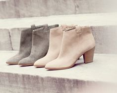 J.Crew women's Eaton suede ankle boots. To preorder call 800 261 7422 or email verypersonalstylist@jcrew.com.