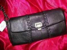 Jessica Simpson Black Maggie Clutch Handbag $44.99