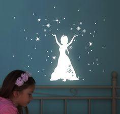 Leuchtsticker Schneekönigin fluoreszierend M1649 von deinewandkunst auf DaWanda.com