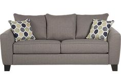Shop for a Bonita Springs Gray Sofa at Rooms To Go. Find Sofas that will look great in your home and complement the rest of your furniture.
