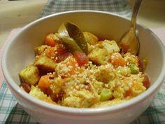 La cuoca in viola: Tofu croccante con carote e zucca all'indiana