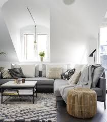 Amazing Grey Living Room Designs With Modern Sofa And Wooden Table White Rug Design