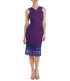 Jax Illusion Lace Midi VNeck Dress #Dillards