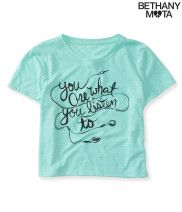 Listen Crop Graphic T from Aéropostale